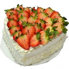Heart Shape Strawberry Cream Cake (1Lb)