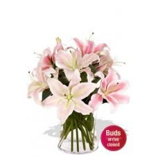 4 Oriental Lily Bouquet Vase Bouquet