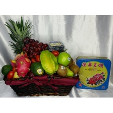 Mid Autumn Festival Fruits Hamper with MoonCake